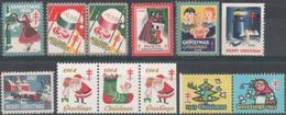 "USA 1935-1965 "" Health Greetings. Merry Christmas"" ( For The Antituberculosis Help) 12v Quality:100%"