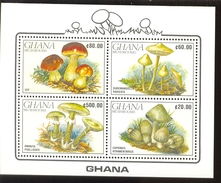 GHANA  1245a ; MINT NEVER HINGED MINI SHEET OF MUSHROOMS
