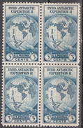 UNITED STATES   SCOTT NO.  733   MNH    YEAR  1933      BLOCK OF 4