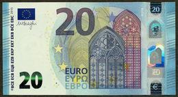 France - U - 20 Euro - U016 I6 - UF34040863XX - Draghi - UNC - EURO