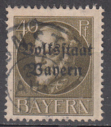 GERMANY--BAVARIA     SCOTT NO.  145     C.T.O.     YEAR  1919 - Bavaria