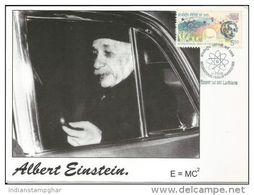 Maxim Card, India 2005 Albert Einstein Year Of Physics Maximum Card, Inde Indien, Relativity Theory
