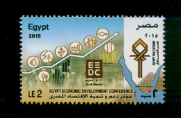 EGYPT / 2015 / EGYPT ECONOMIC DEVELOPMENT CONFERENCE / EEDC / SHARM EL-SKEIKH / MAP / RED SEA / THE PYRAMIDS / MNH / VF - Nuovi