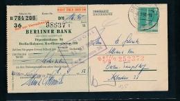 Berlin  Postscheck  Karte  ( G8815   ) Siehe Foto