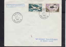 ALOUETTE 10F + Ms 760 PARIS 3F POSTE AERIENNE Sur Lettre 1er Jour De PARIS R.P.PHILATELIE Le II I 1960 - Luftpost