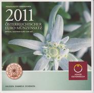 Coin Austria Coinage 2011 - 0.01 - 2  Euro UNC - Edelweiss - Autriche