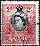Jamaica 1956 - Elisabeth II & Pineapple ( Mi 163 - YT 168 )