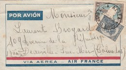 ARGENTINE LETTRE BUENOS AIRES VIA AERA 1936 POUR DEAUVILLE -   TDA105 - Argentina