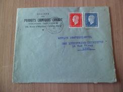 Lettre Pierre Bénite Le 10/01/1946 Pour Lyon Les N° 686 Et 693 Electro-Chimie à   Industries Chimiques  TB