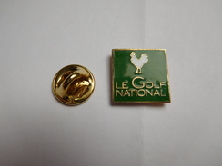 Beau Pin's En EGF , Golf , Le Golf National , Coq , Signé Corner - Golf
