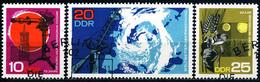 DDR - Michel 1343 / 1345 Einzeln - OO Gestempelt (A) - Meteorologie