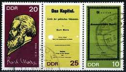 A11-33-9) DDR - Michel 1365 A / 1367 A = WZd 195 - OO Gestempelt - Karl Marx - 1367 Druckfehler