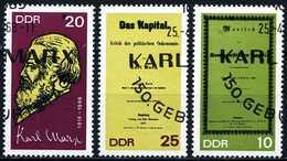 DDR - Michel 1365 A / 1367 A Einzeln - OO Gestempelt (A) - Karl Marx