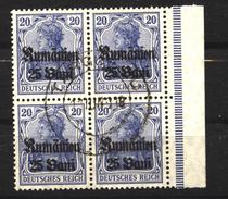 Militärverwaltung In Rumänien,11a,Viererblock,o,gep. - Besetzungen 1914-18