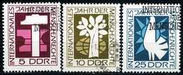 DDR - Michel 1368 / 1370 - OO Gestempelt (A) - Jahr Der Menschenrechte
