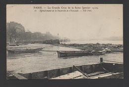 DF / 75 PARIS / INONDATIONS DE 1910 / JANVIER / EFFONDREMENT DE LA PASSERELLE DE L'ESTACADE - Paris Flood, 1910