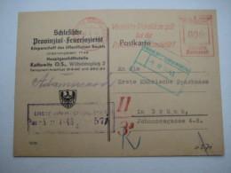 Firmen Freistempel , Meterstempel Auf Beleg Aus   1943 , Kattowitz - Deutschland