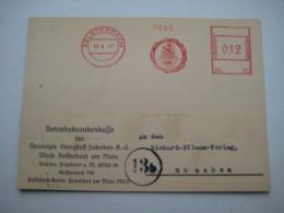 Firmen Freistempel , Meterstempel Auf Beleg Aus   1947 , Kelsterbach