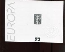 Belgie 2000 2922  EUROPA CEPT Velletje Feuille Blanc Noir  RR (klein Vlekje Tss Europa En Zegel, Zie Scan)