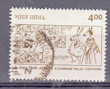 India 1991 Mi Nr 1309 , Cartoon Van Keshav Shankar Pillai - Gebruikt