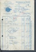 FACTURE DE 1937 CIE FERMIERE DE L ETABLISSEMENT THERMAL DE VICHY : - France