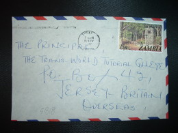 DEVANT DE LETTRE Pour JERSEY TP MONUMENT NEARBY 15 N OBL.MEC.16 NOV 1977 LUSAK... - Zambie (1965-...)