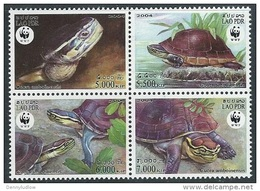 Laos  2004  Sc#1625    WWF Turtles Set/block   MNH**  2016 Scott Value $6