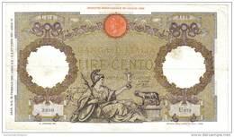100 LIRE ROMA GUERRIERA FASCIO ROMA 20 02 1941 BIGLIETTO SPIANATO BB+ LOTTO 1061 - 100 Lire