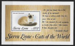 Sierra Leone 1993 Bloc 216  Neuf Avec Chats