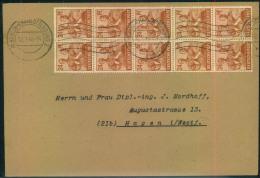 1948, Brief Mit 10-mal 24 Pfg. Arbeiter Als Zehnfachfrankatur Ab (1) BERLIN-CHARLOTTENBURG 2 - [5] Berlin