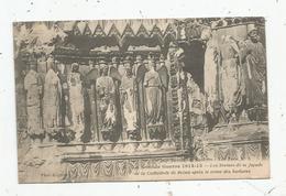 Cp , Militaria , La Grande Guerre 1914-15 , Cathédrale De REIMS Aprés Le Crime Des Barbares , écrite 1916 - Guerre 1914-18