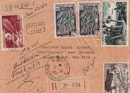 LETTRE MADAGASCAR.   26 MAI 08.  RECOMMANDE NOSSI-BE POUR ALGER.   TRESORERIE DE MADAGASCAR  NOSSI-BE - Cartas