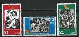 DDR-RDA - N° 2347 à 2349  - 10° Congrès De La Fédération Libre Des Syndicats Ouvriers Allemands - O - [6] République Démocratique