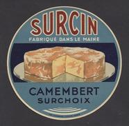 Etiquette De Fromage Camembert -  Surcin   à  Bais  (53)  -  Fabriqué Dans Le Maine - Fromage