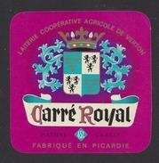 Etiquette De Fromage  -  Carré Royal  -  Lait. Coop.  Agricole Elnor  à  Verton  (62 ) - Cheese