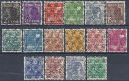 Bizone, MiNr. 36-51 II Ohne 49 II, Postfrisch / MNH