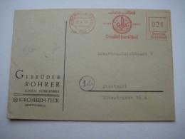 Firmen Freistempel , Meterstempel Auf Beleg Aus   1947 , Kirchheim Teck