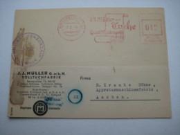 Firmen Freistempel , Meterstempel Auf Beleg Aus   1946 , Kirchheim Teck Mit Zensur
