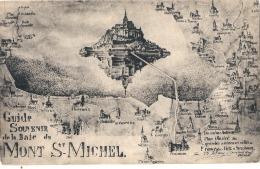 -50 ------- LE MONT SAINT MICHEL  Guide Souvenir De La Baie Du  Saint Michel -* Petit Pli Neuve - Le Mont Saint Michel
