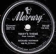 78 T. - 25 Cm - état  TB - Mercury U.S.A.- RICHARD HAYMAN - TERRY'S THEME - Eyes Of Blue - 78 G - Dischi Per Fonografi