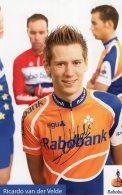 5527 CP Cyclisme  Ricardo Van Der Velde  Dédicacée - Cyclisme
