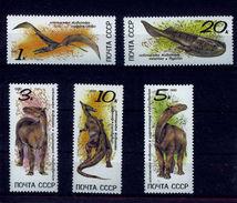 DINO RUSSIA/USSR 1990 Prehistoric Animals Dinosaurs MNH SC.5920/5924