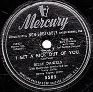 78 T. - 25 Cm - état  B - Mercury U.S.A.-  BILLY DANIELS - I GET A KICK OUT YOU - TOO MARVELOUS FOR WORDS - 78 G - Dischi Per Fonografi