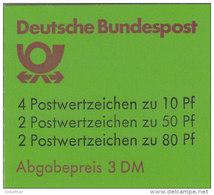 BRD Markenheftchen MH 24 C OZ, Postfrisch **, Burgen Und Schlösser 1982