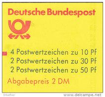 BRD Markenheftchen MH 22 Ad K2 MZ, Postfrisch **, Burgen Und Schlösser 1984