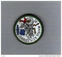 Pin's  Militaire  DIABLES  DE  MARULAZ  Avec  Un  Animal  Chouette ? - Militares