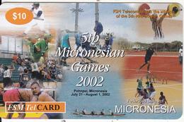 MICRONESIA - 5th Microesian Games, FSM Tel Prepaid Card $10, Used - Micronesia
