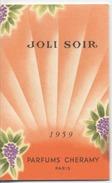 58 - NEVERS  - CALENDRIER PARFUME  -  Parfum  - Coiffure MONOT   Fernand - 1959 - Perfume Cards