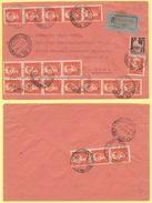 29.07.1946 Affr. Mista Democr. 2L. + 20 Es. 60c. Imperiale Sass. 539 Su Raccomandata - 6. 1946-.. Republik