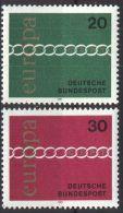 DEUTSCHLAND 1971 Mi-Nr. 675/76 ** MNH